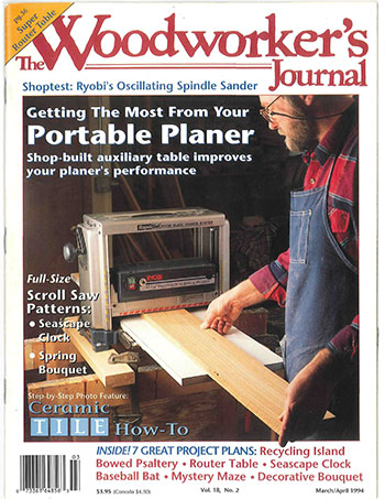 Woodworker's Journal – March/April 1994