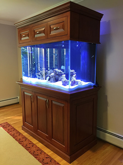 Cherry aquarium stand woodworking blog videos for Custom fish tank stand