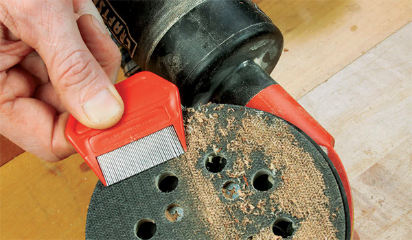 Cleaning Your Sander's Hook-and-Loop Pad