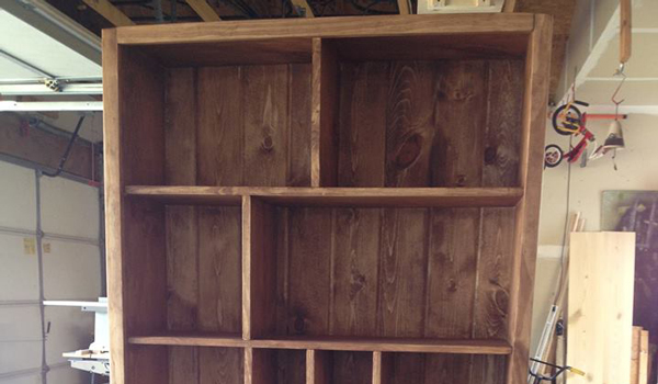 Custom Game and Bookcase