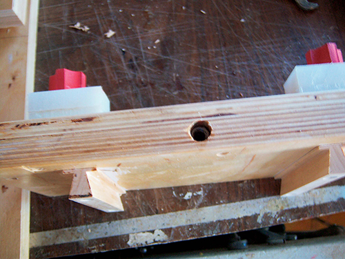 A small base is left on the dovetail-shaped runners. It helps when you secure the runner to the sliding panel with screws.