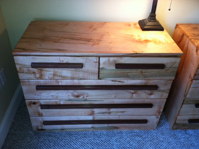 Maple Dresser and Bed