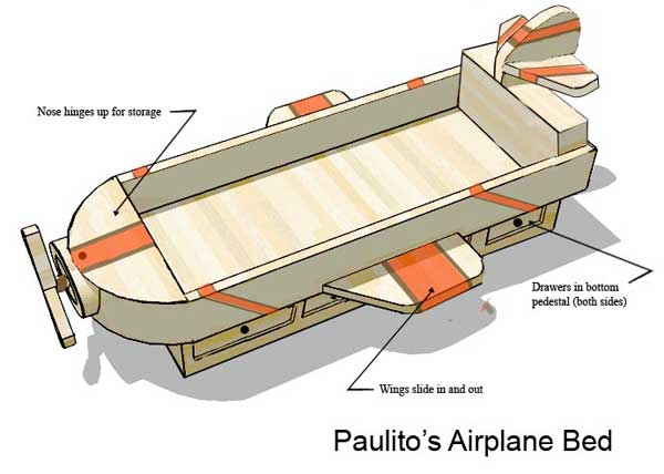 Paulitos Bed - SketchUp