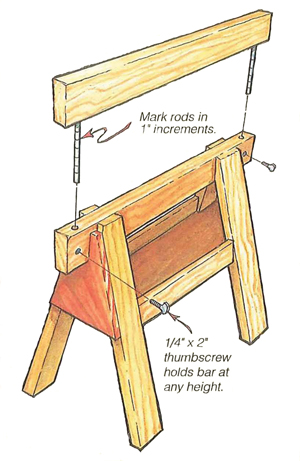 Adjustable Sawhorse Plans