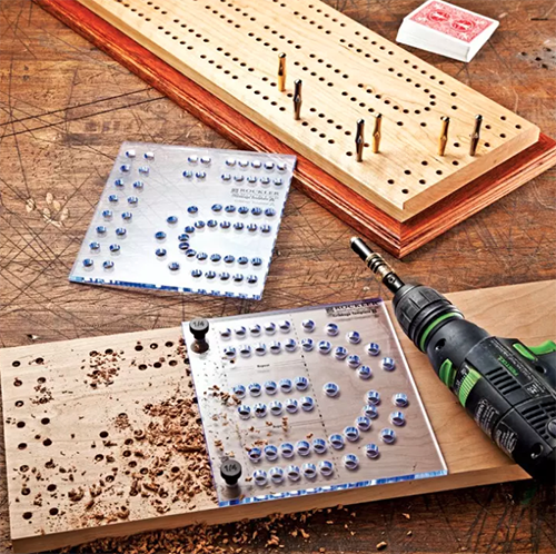 Cribbage board pattern template cnc router woodworking for Cribbage board drilling templates