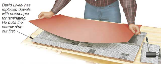 Newspaper Spacers for Laminate
