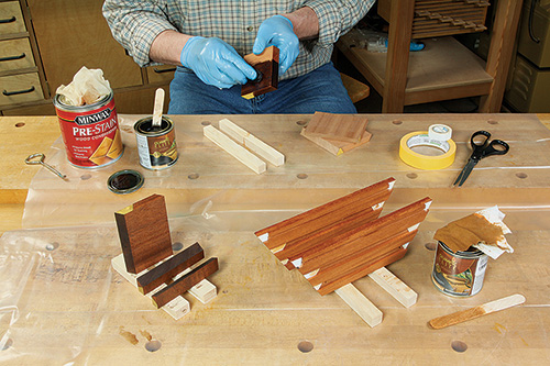 Staining Over Glue