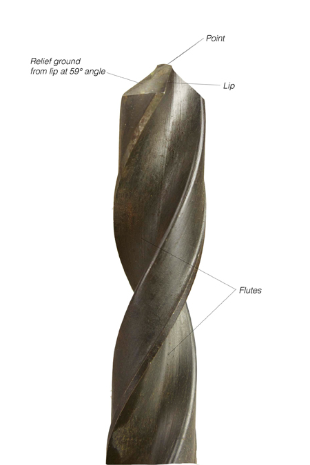 woodworking twist drill bit parts anatomy
