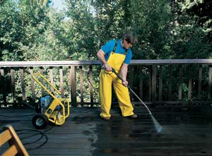 Pressure Washer On Deck