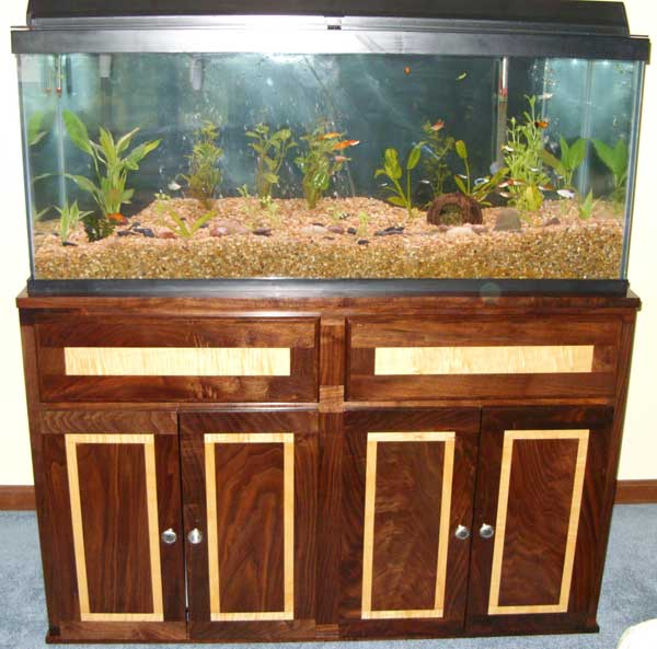 Black Walnut & Maple Fish Tank Stand