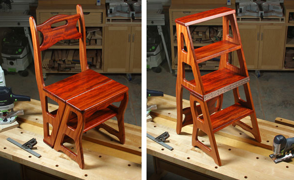 Build Step Stool Chair