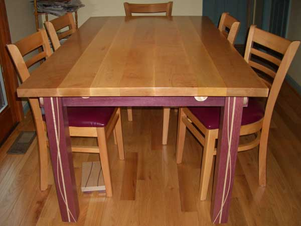 Tiger Maple U0026 Purpleheart Kitchen Table