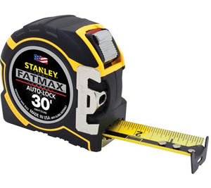Stanley FatMax 16′ and 30′ Auto-Lock Tape Rules