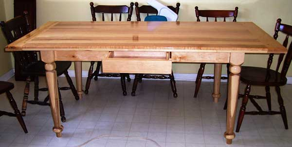 Country Table with Bread Board Ends