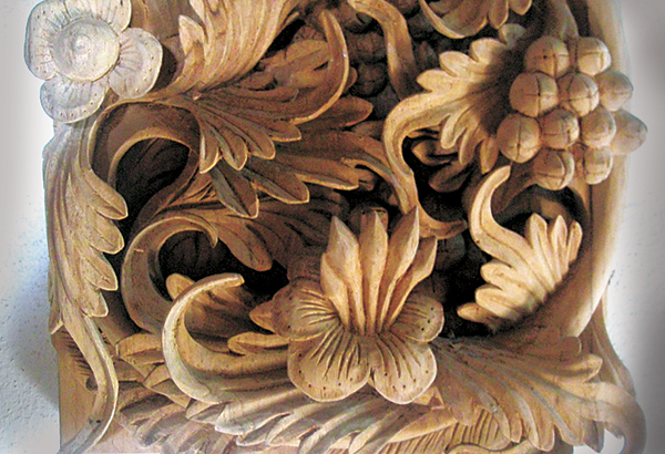 Thai wood carving lanna relief woodworking