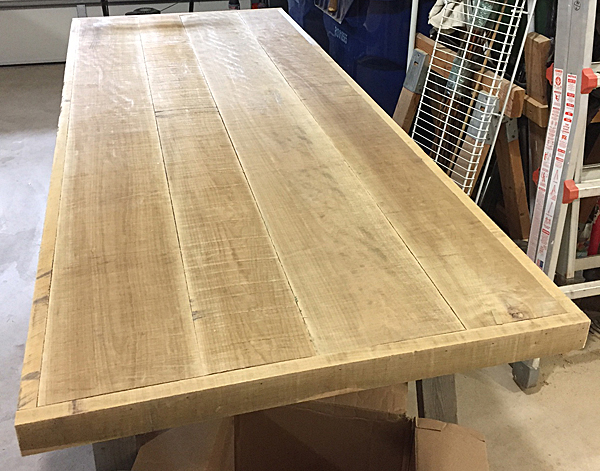 Maple Table Top Overlay Finish Options Woodworker