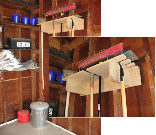 Yard Tool Storage Rack Plan Garage Organization Projects