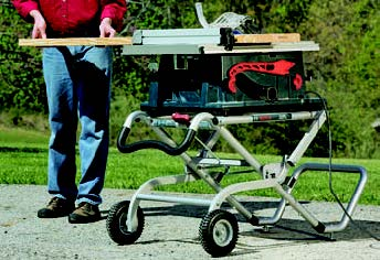 These jobsite-ready table saws should have sturdy mobile bases, and Bosch's Gravity-Rise design is an exceptional example. It is stable, sets up easily and is built to handle rugged terrain.