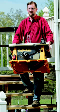 Portable table saws enable you to carry out sawing tasks wherever they're most convenient: on the deck, in the basement or out in the yard. You're not limited to the shop floor here.