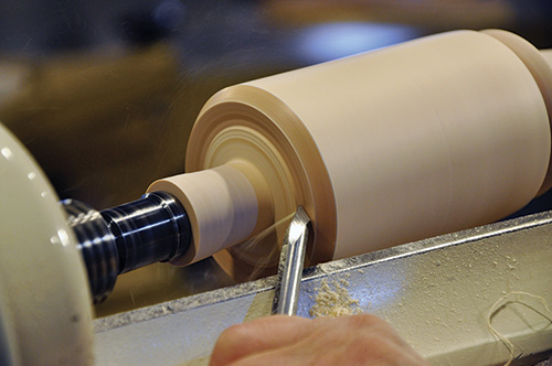 Cutting rim into the end of the mallet's head