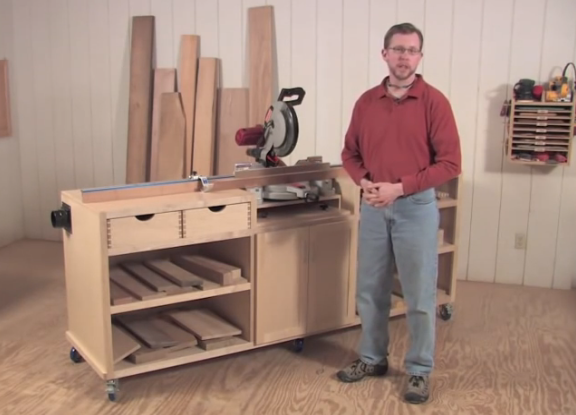 Ultimate Miter Saw Stand Work Station Woodworking